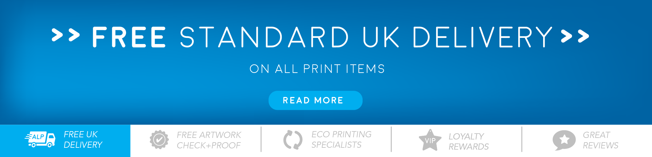 Free UK standard delivery on all print orders