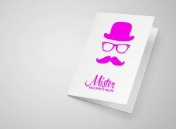 Printed neon greeting cards