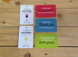Rounded corner swing tags
