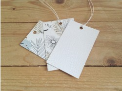 Textured swing tag printing