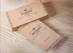 kraft business cards - Kraft Business Cards