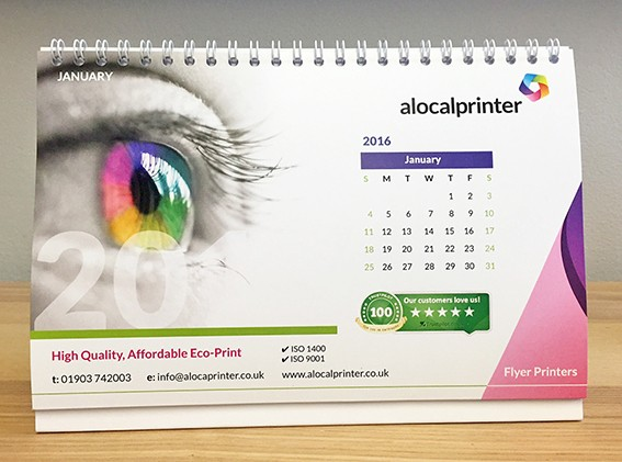 Desk Calendar Design Your Own : A desk calendar with self stand full colour printing