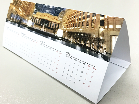 Calendar Printing Tent Trifold Desktop Styles A Local Printer