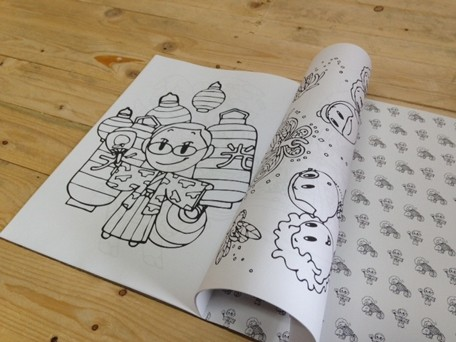 Custom Colouring Book, 40 Pages, Your Designs, All Eco - A Local Printer