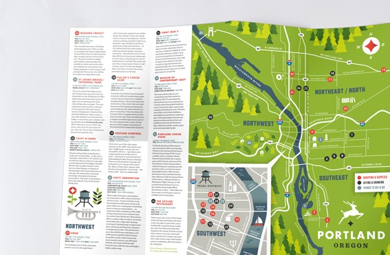Multi page leaflet printing | Map and Cross Fold Leaflets | A Local