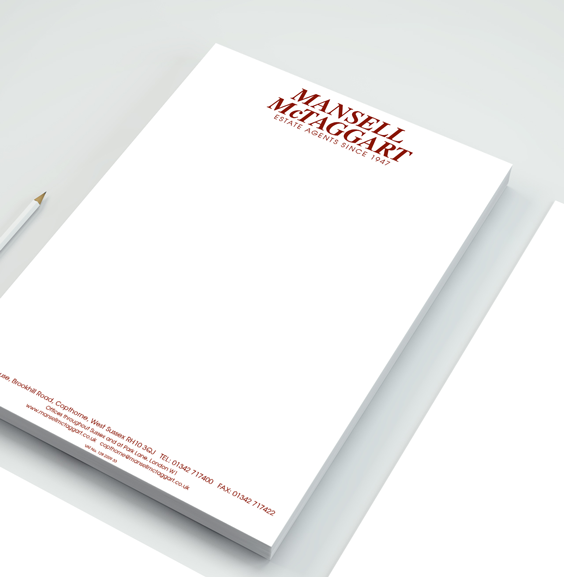 Pantone colour letterhead printing corporate branding a local spot colour letterheads thecheapjerseys Gallery