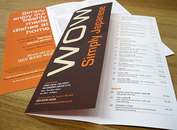 fabulous menu printing on superb silk gloss recycled boards a