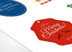 Die-cut Shaped Christmas Tags