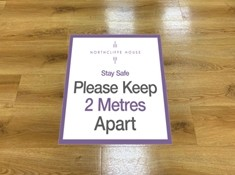Non-slip Covid-19 Awareness Floor Stickers