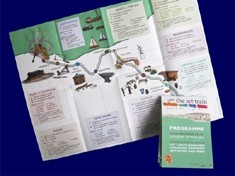 Cross folded printed leaflet