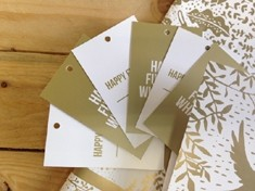 Gold or silver swing tag printing