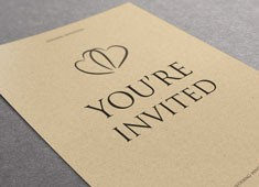 Kraft invitation printing
