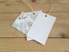 Textured swing tags
