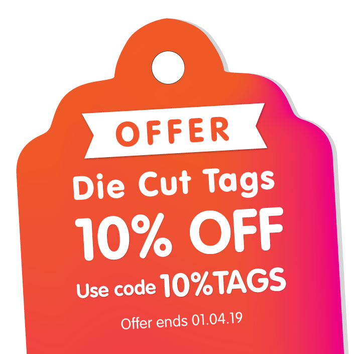 Die Cut Tags – Save 10%