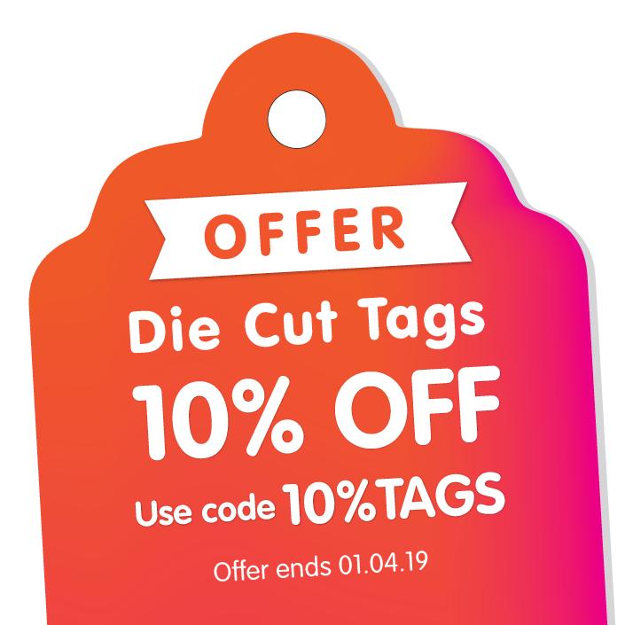 Die Cut Tags – Save 10%