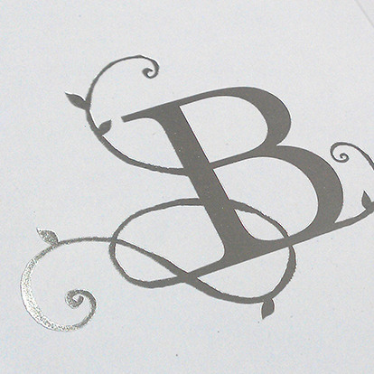 Example of foil blocked stationery