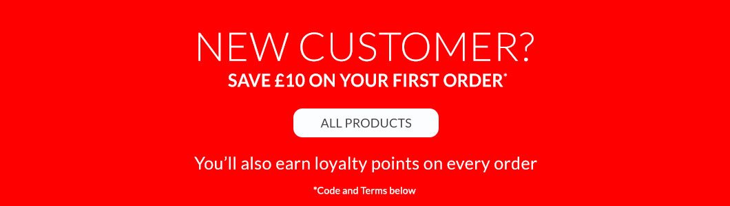 Save a Tenner on your First Order
