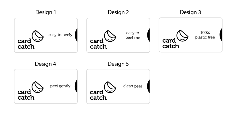 Card Catch wording options