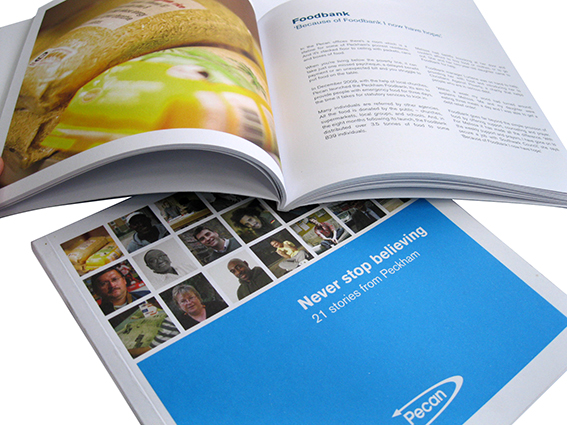 Matt printed brochure