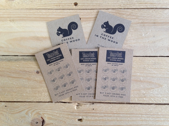 kraft printed loyalty cards