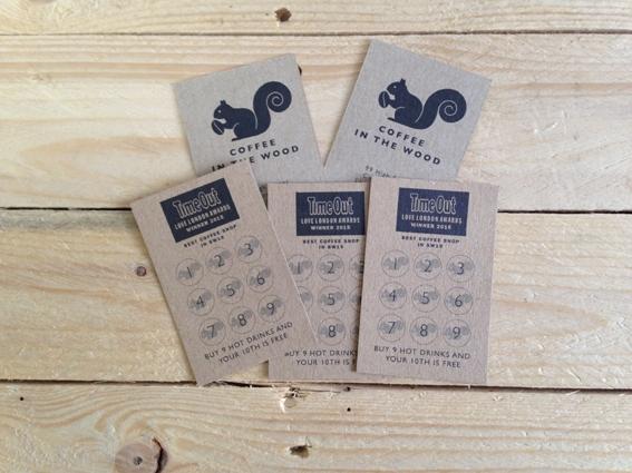 kraft printed loyalty cards
