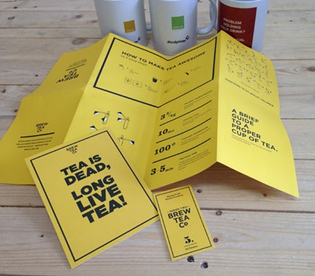 Brew Tea printing montage
