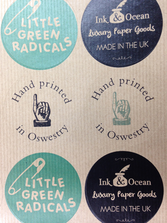 sticker printing on kraft
