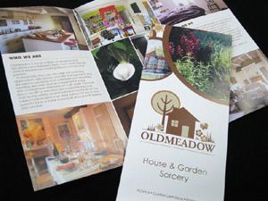 Eco printed folded leaflets